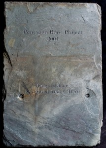 Pentagon Roof Project 2001-Original Slate Recovered After 9-11   -02