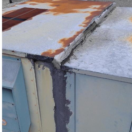 asbestos damage on roof